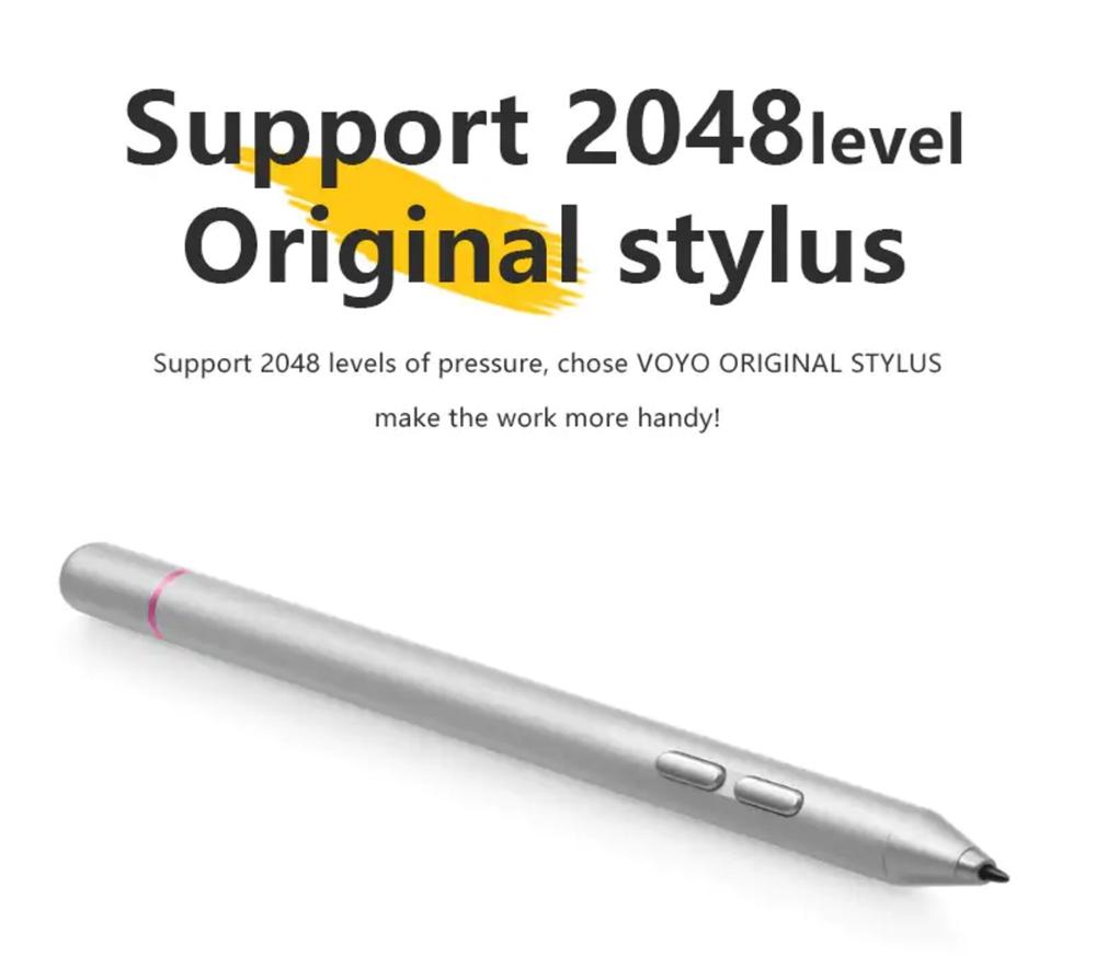 VOYO VBook i7 Plusの専用スタイラスペンは2048段階の感圧タイプとなっています。