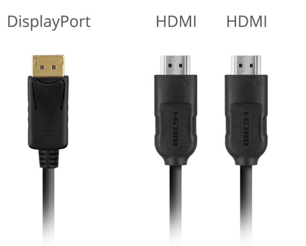 VX3211-4K-MHD-7はDisplayPortとHDMI端子を備えます。