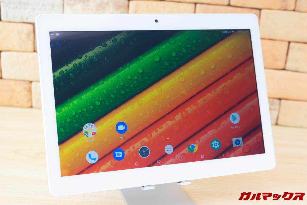 ALLDOCUBE M5Xは10.1型の大画面ディスプレイを搭載。