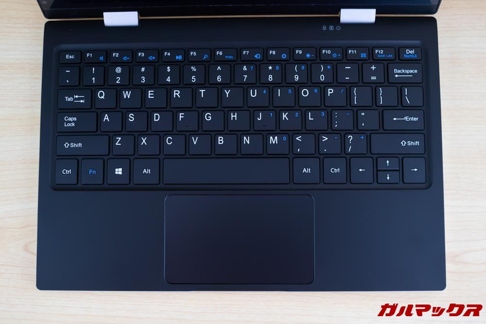 Jumper EZbook X1のキーボードはUS配列