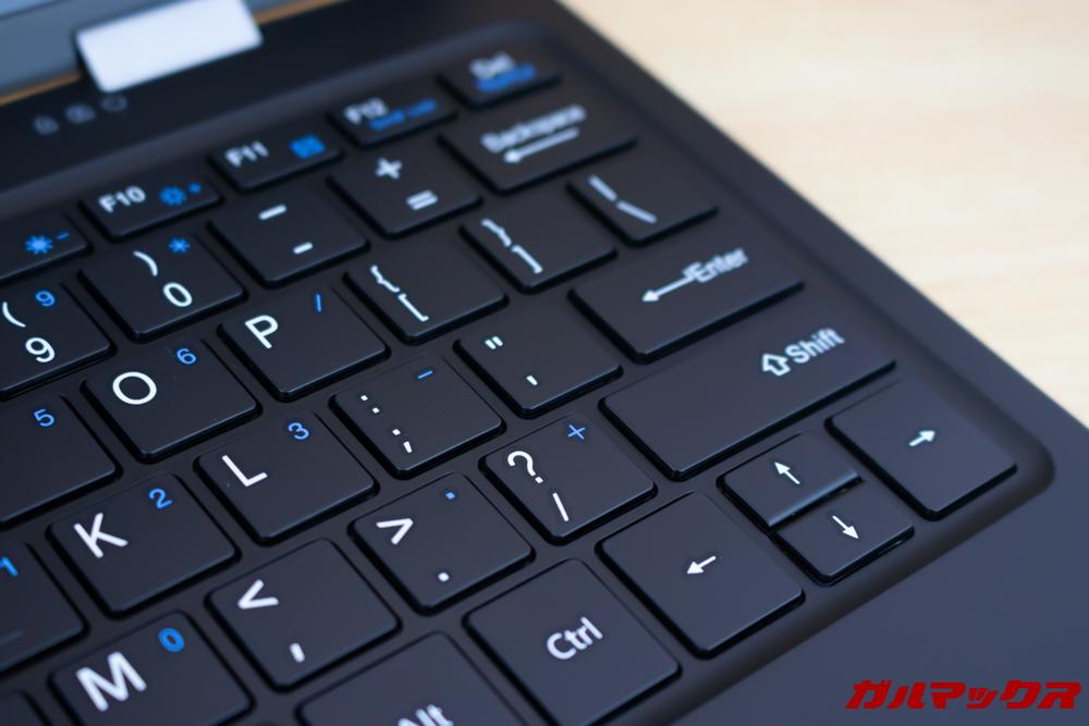 Jumper EZbook X1のキーボードは浮石タイプ
