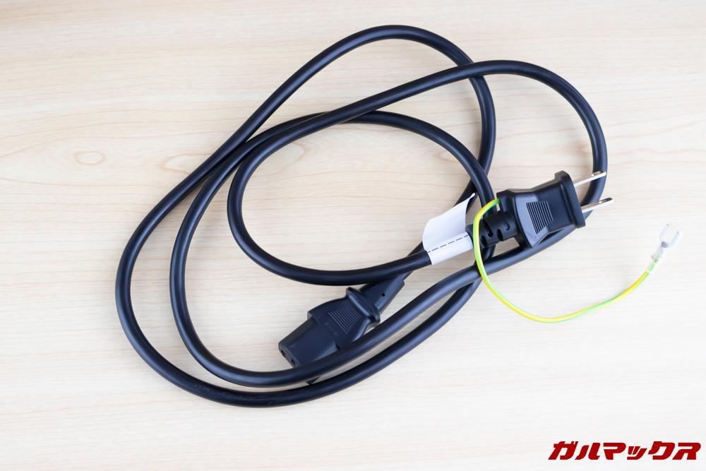 PX727-4Kの電源コードは1.5M。