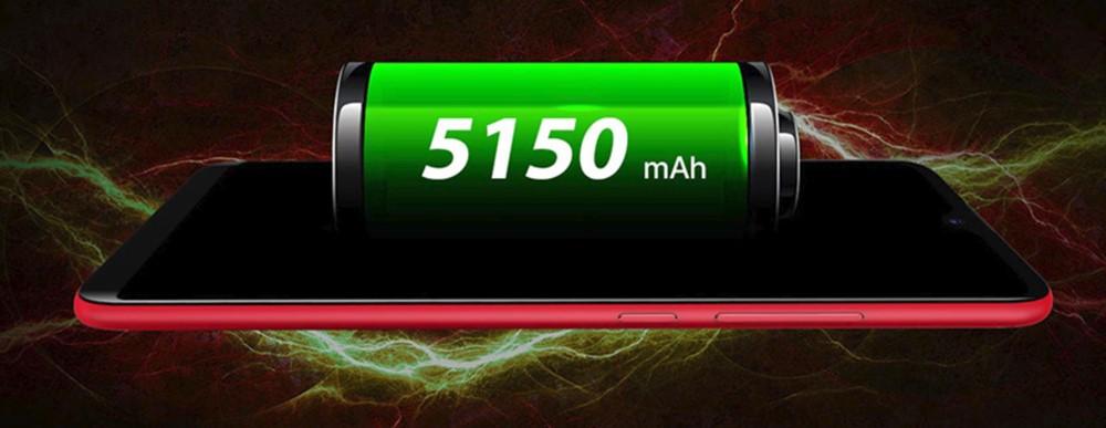 UMIDIGI F1は5150mAhの超大容量バッテリーを搭載。