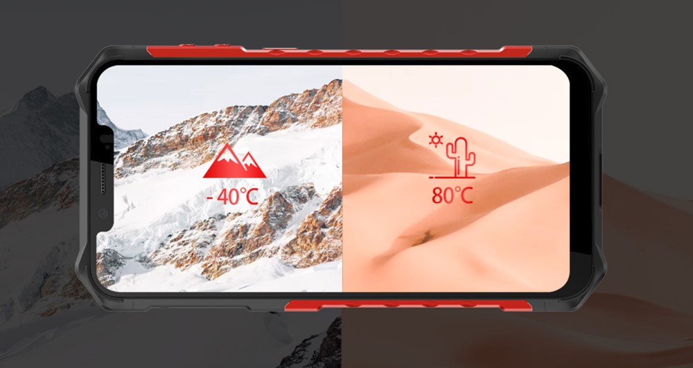 MIL-STD-810Gは-40℃から80℃での動作が可能。