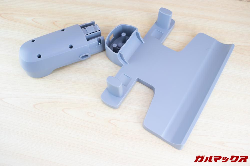 Xiaomi JV71 Vacuum Cleanerの充電台はセパレートタイプ。