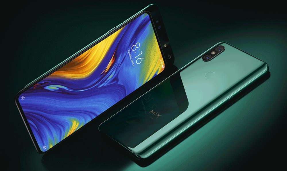 Xiaomi Mi MIX 3はディスプレイがスライドする機構でインカメラには画面をスライドしてアクセスします。