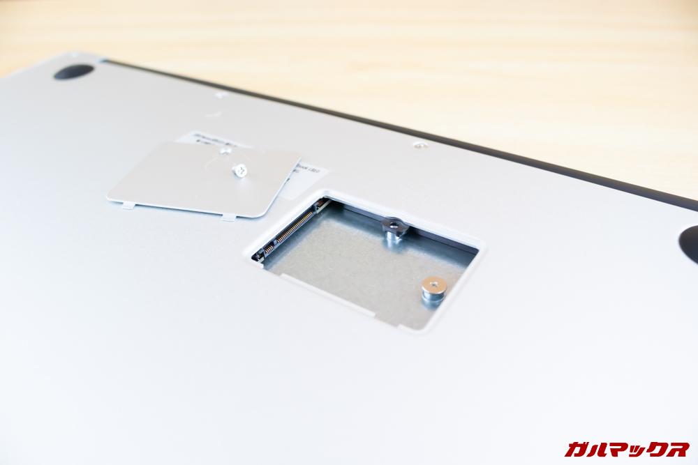 Jumper EZbook 3 Proは底面にM.2 SSDスロットを搭載