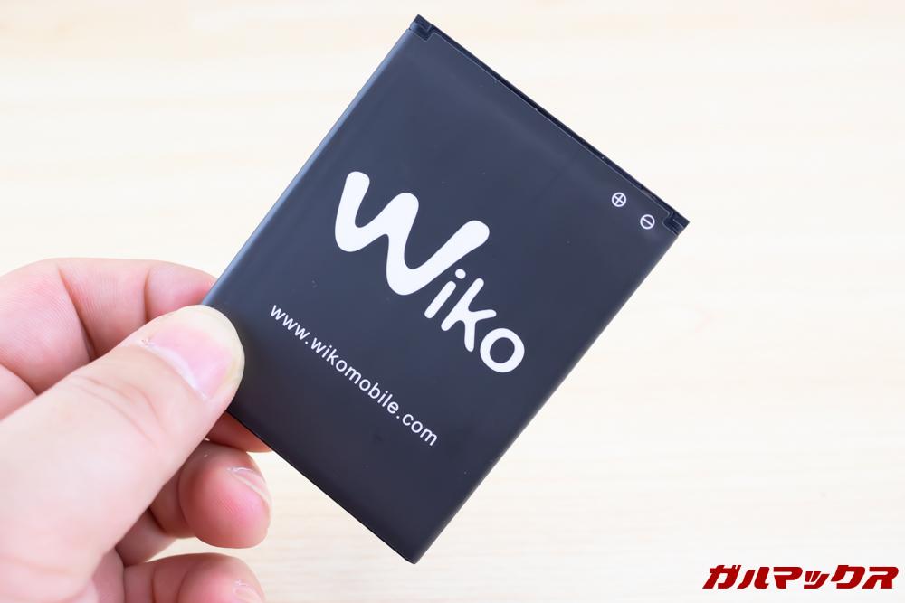 Wiko Tommy3 Plusには脱着式のバッテリーが搭載されています。