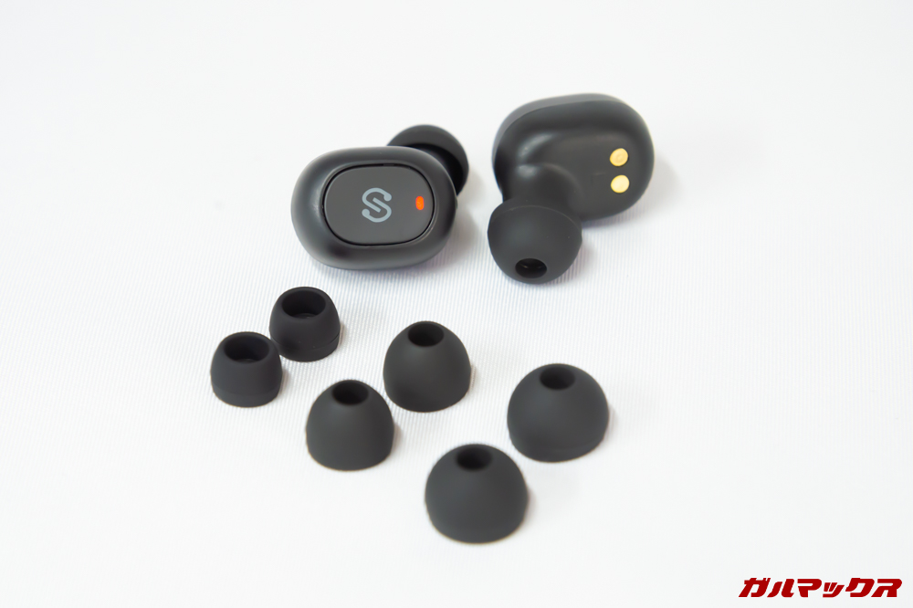 SoundPEATS Truefree+のイヤーチップは4サイズが付属。