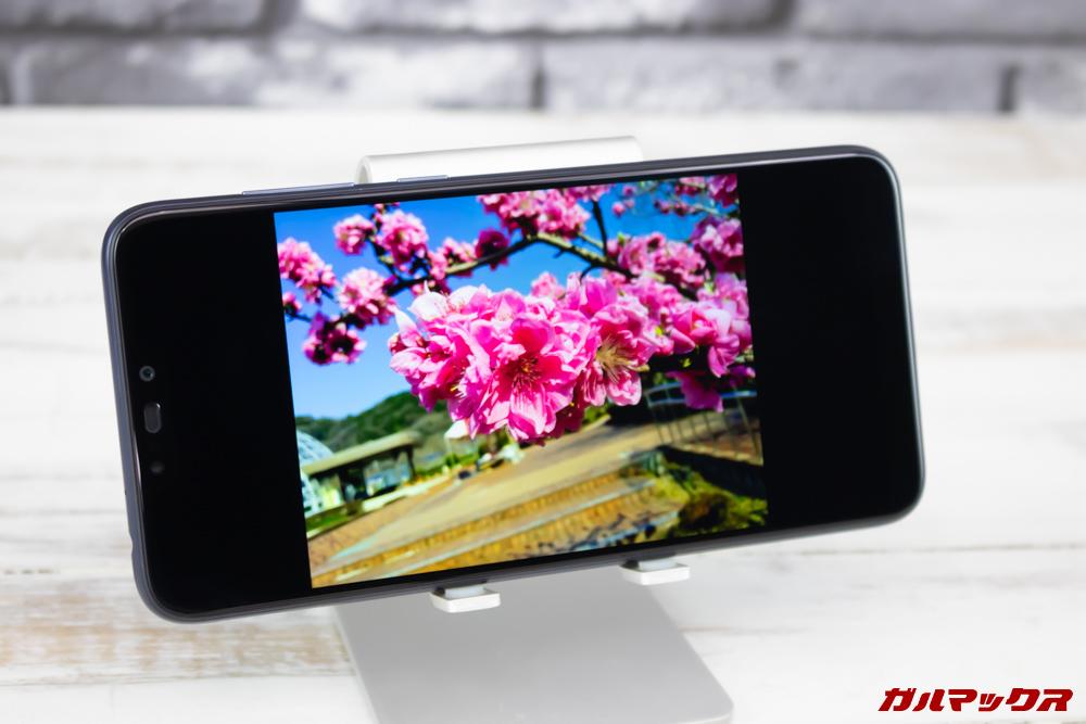 ZenFone Max (M2)のディスプレイは発色も良いです。
