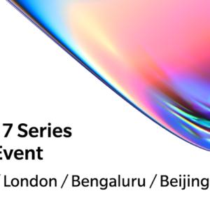 OnePlus 7シリーズの発表会は5月14日に開催!