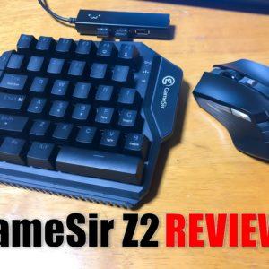GameSir Z2のレビュー!片手用ゲーミングメカニカルキーボード&マウス!