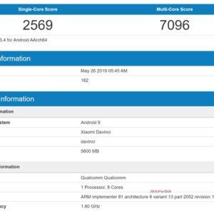 Redmi K20がGeekbenchに登場。SD730の実力は?