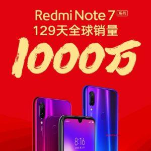 Redmi Note 7シリーズ、僅か129日で1000万台の販売達成