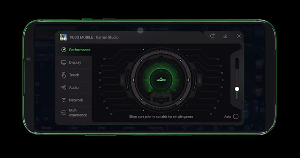 Black Shark 2はゲームに集中するためのセッティングを行うGamer Studioを搭載
