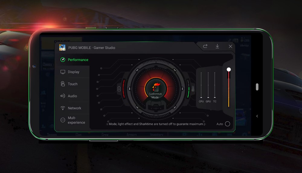 Black Shark 2はフレームレートをなめらかにするLudicrous Modeを搭載