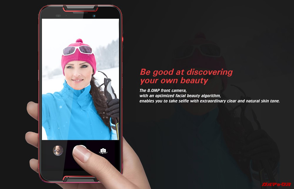 CUBOT Questは800万画素のインカメラを搭載しています。