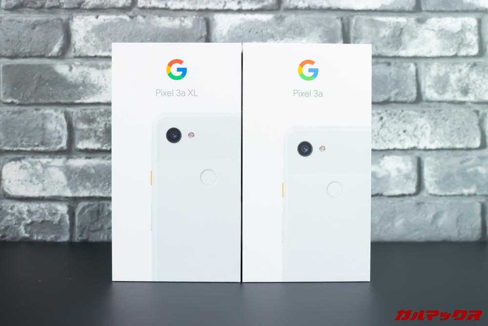 Google Pixel 3a/3a XLの外箱サイズは同じでした。