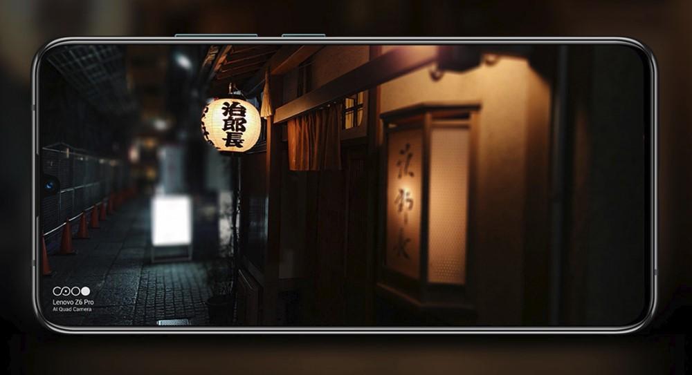 Lenovo Z6 Proは大画素高感度センサー搭載で夜景でもノイズの少ない写真を撮影出来る。