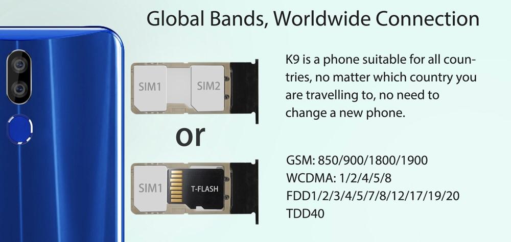 OUKITEL K9のSIMトレイは2番目のスロットがMicroSDと共用タイプ