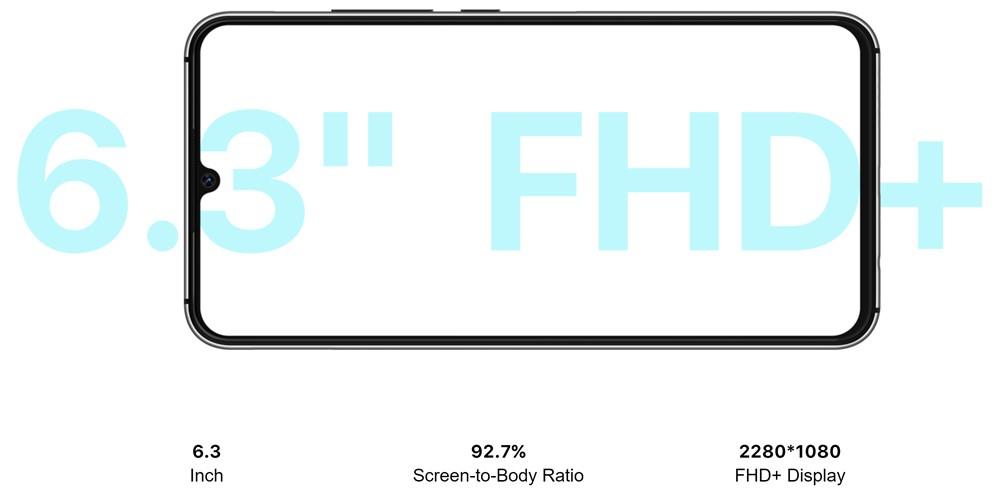 UMIDIGI A5 Proは6.3型FHD+ディスプレイを搭載