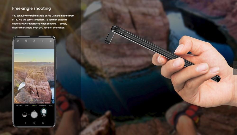 ZenFone 6はカメラを動かすことで超ローアングル撮影なども楽しめます。