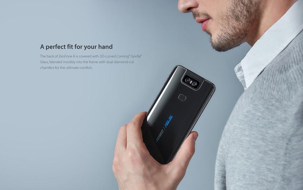 ZenFone 6は美しい背面カーブガラスを採用