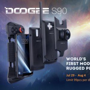 DOOGEE S90、Banggoodで初売りセールを開始!機能拡張が出来るスマートフォン!