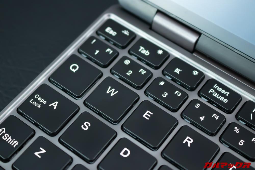 MiniBookのUS配列は半角/全角切り替えのボタンが無い