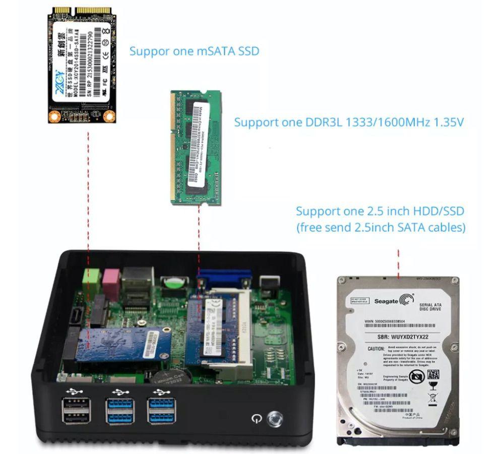 XCY X30 Mini PCは自由にSSDやメモリ、ストレージ増設が可能