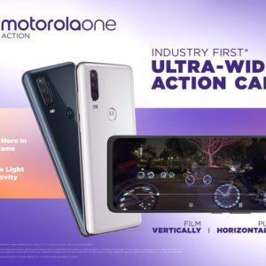 Motorola One Actionが登場。超広角カメラとシネマビジョン21:9対応スマートフォン
