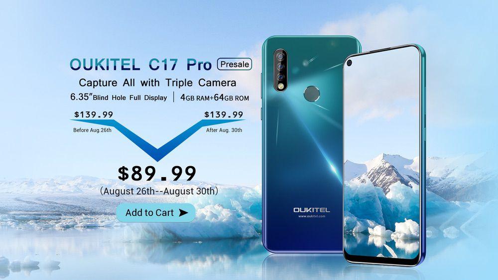 OUKITEL C17 Proの初売りセール