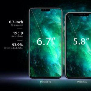 Ulefone T2が登場。巨大な6.7型ディスプレイ搭載のミドルレンジスマートフォン