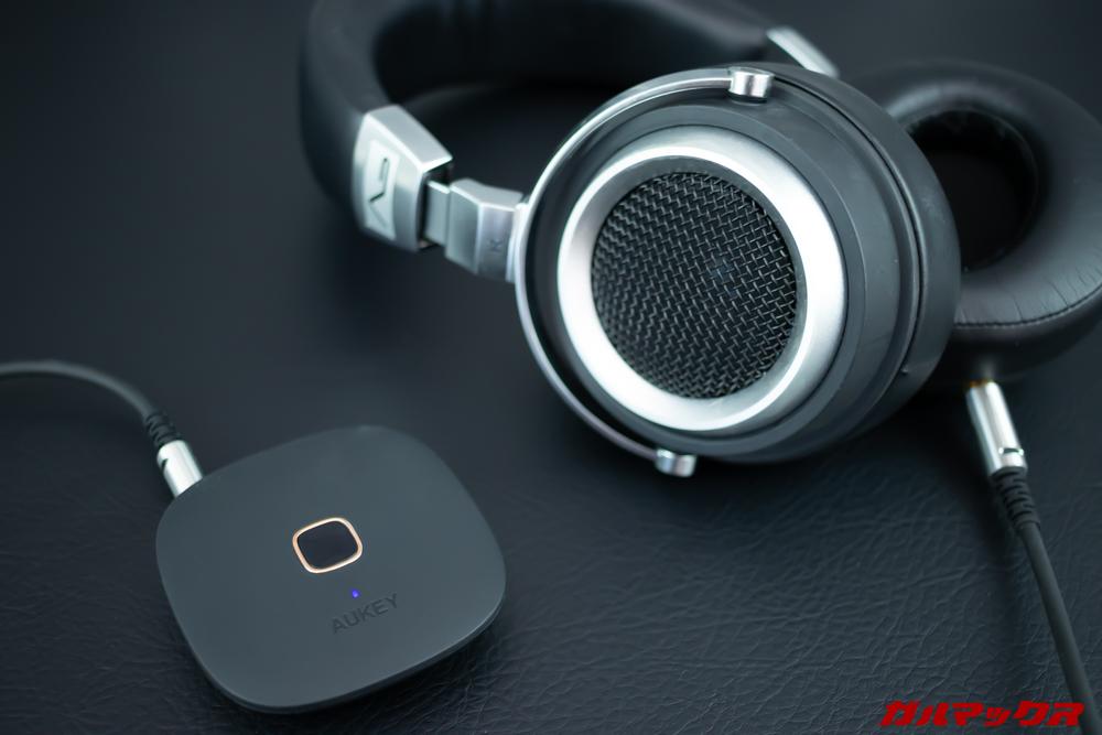 BT-C6はレシーバーモードでお気に入りの有線ヘッドホンをワイヤレス化できる。