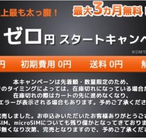 パナソニックの格安SIMが3GBプラン3ヶ月無料!なくなり次第終了!急げ!