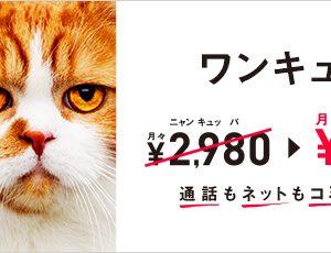 ワイモバイルが基本料金を1年間毎月1,000円割引!24時間カケホ付けても安い!