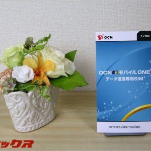 OCNモバイルONEの格安SIMの通信速度測定。低速ながら安定感あり