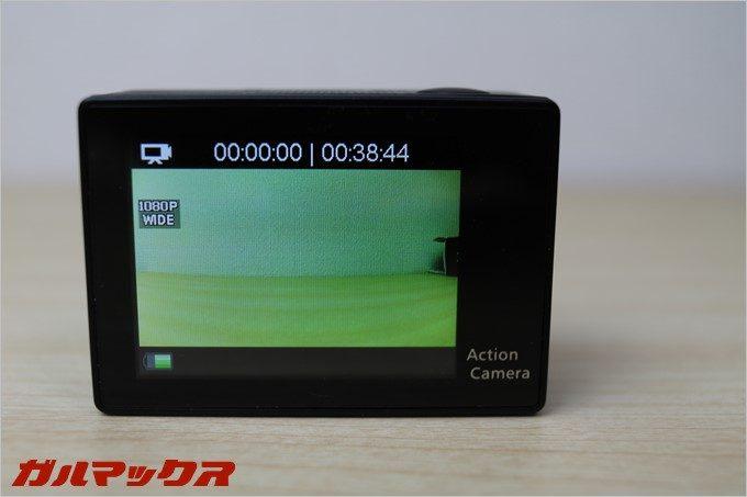 4GBのSDカードで動画は40分程度撮影可能です