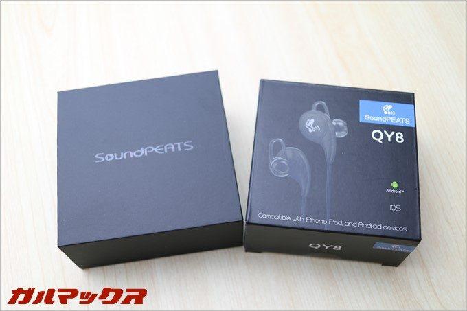 SoundPEATS「Q15」の外箱はプレミアムモデルらしい質感