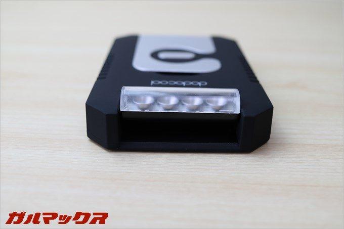 懐中電灯部分は可動式で90度起こして使うことも可能