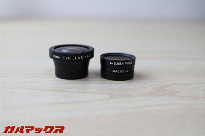 マクロと広角レンズはニコイチで、利用する用途に合わせてレンズを取り外すタイプ