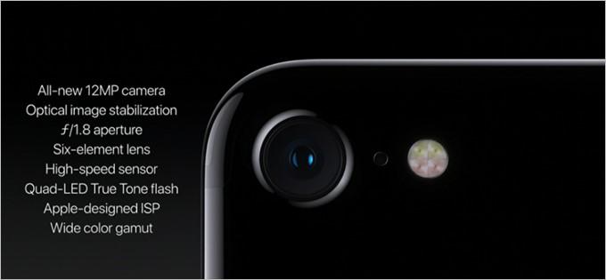 iPhone7のカメラは手ぶれ補正に対応で1200万画素