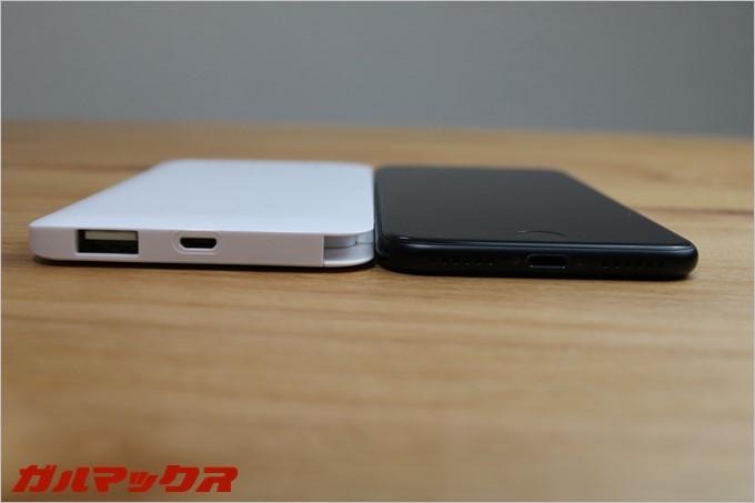dodocoolのDP90はサイズ感がほぼiPhone7と同じです
