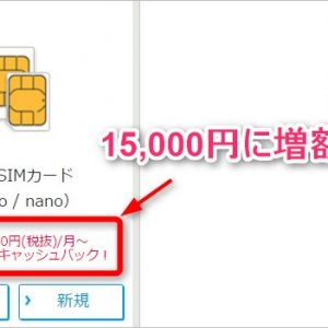 ワイモバイル、音声SIMのスマホプランS、M、L契約で最大15,000円キャッシュバック!【2016/11/19更新】