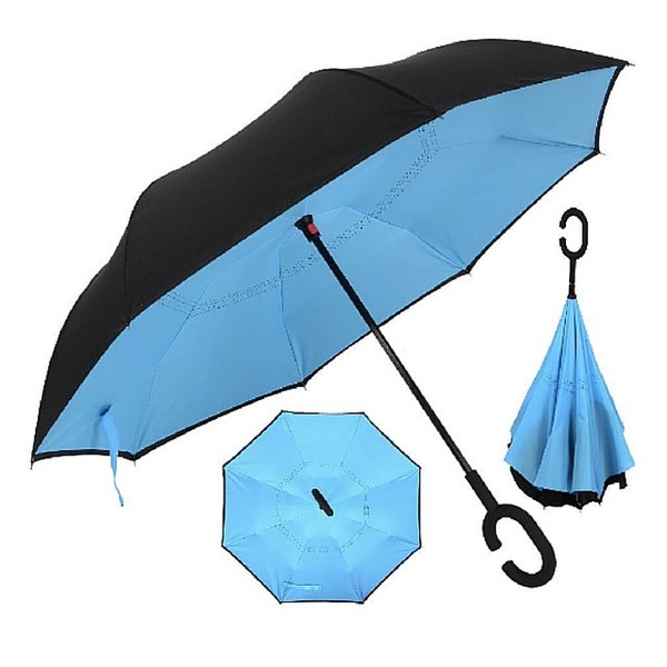 Rebrellaの逆に開く傘は持ち手が独特な形状。