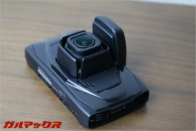 GoSafe 30Gの本体の上部にはGPSユニットが搭載されている。