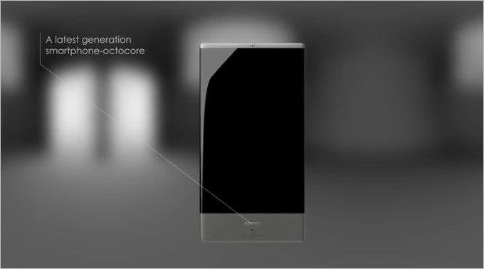 スマートフォンは5型でAndroidを搭載する。