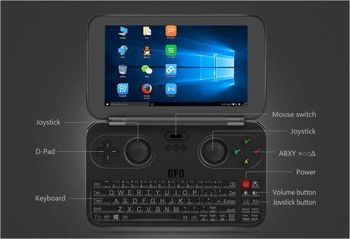 コスパ最強なGPD WIN GamePadはキーボードに加えゲームパッドが搭載