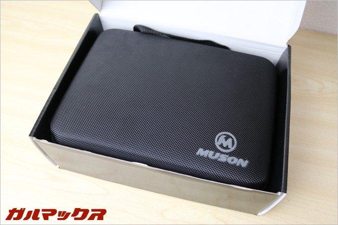 MUSON MC2の付属品や本体は全てハードケースに収まった状態で届きます。