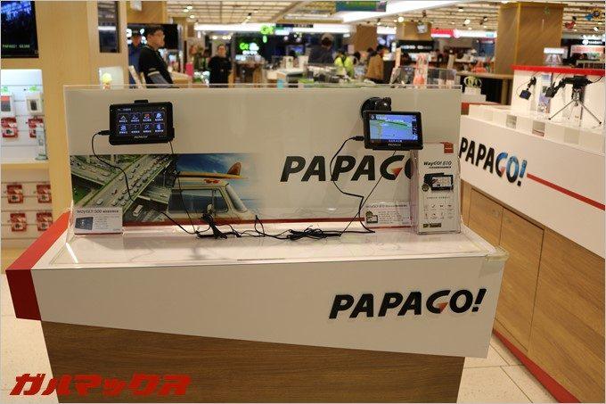 台湾ではPAPAGO!のドラレコも展示されていた